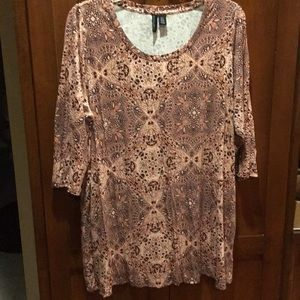 Cynthia Rowley 3/4 sleeve top